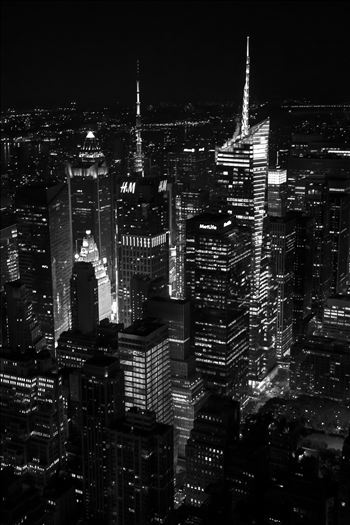 Times Square From Empire State Building by David Verschueren