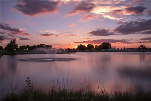 Jal Lake - Long Exposure Sunset by David Verschueren