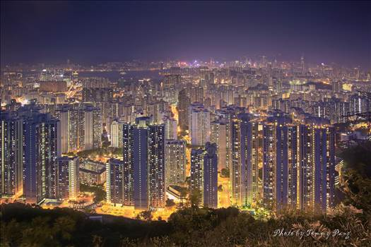 City Lights - Hong Kong at Night by WPC-274