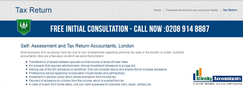 Allenby Accountants - Self- Assessment and Tax Return Accountants, London by Allenbyaccountants