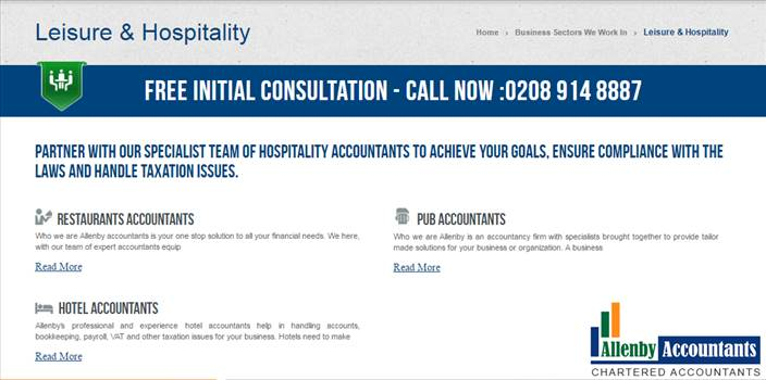 Leisure & Hospitality Accountants of Allenby Accountants by Allenbyaccountants