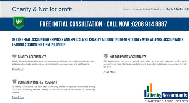 Charity & Not-For-Profit Accountants London – Allenby Accountants  by Allenbyaccountants