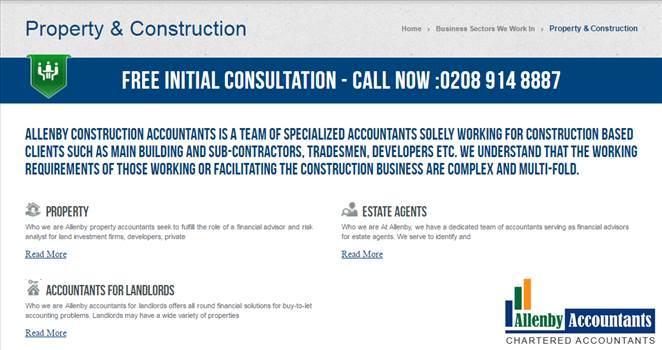 Allenby Accountants' team of Property & Construction Accountants by Allenbyaccountants